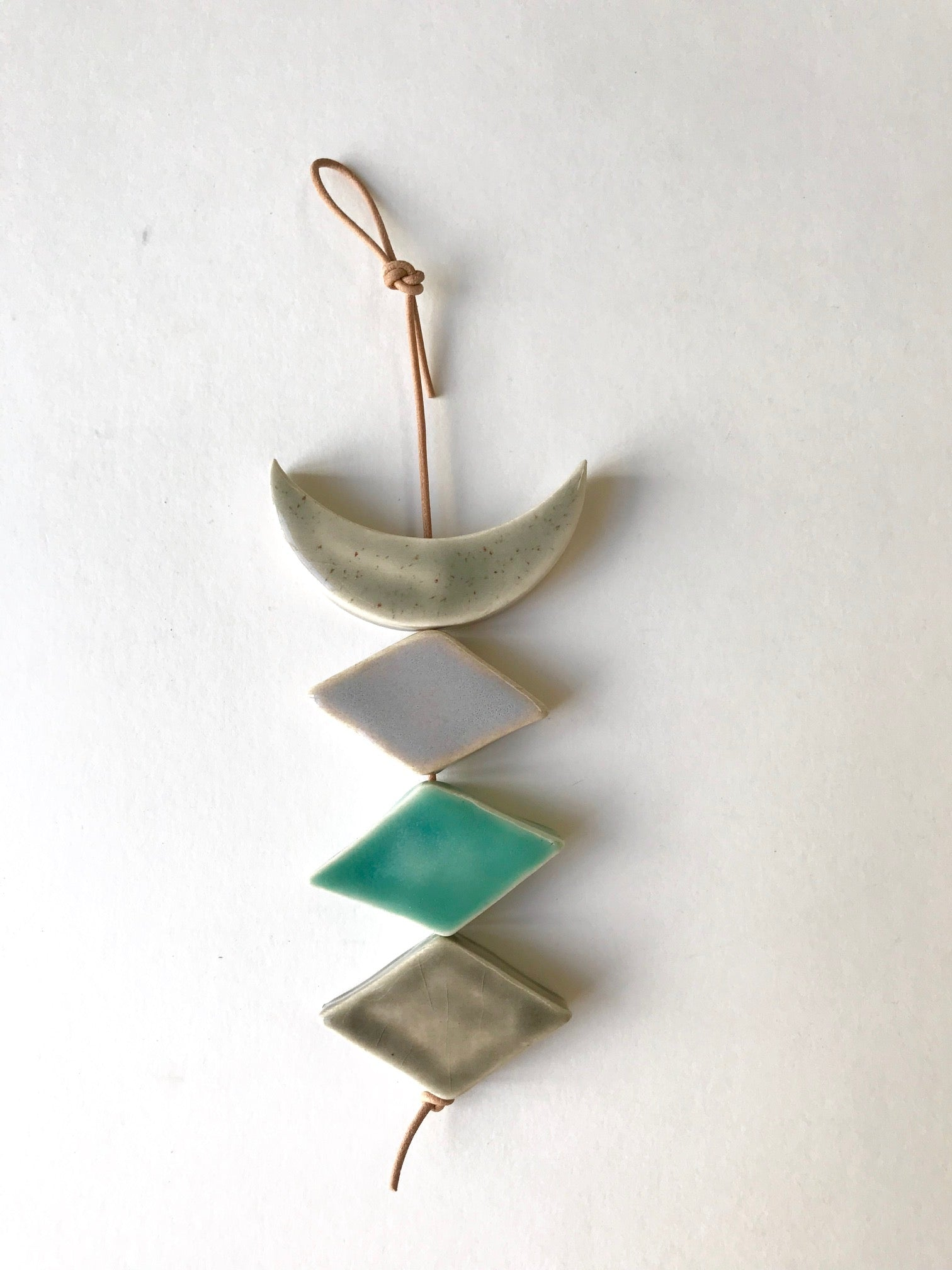 petite one of a kind, desert rising ceramic wall hanging