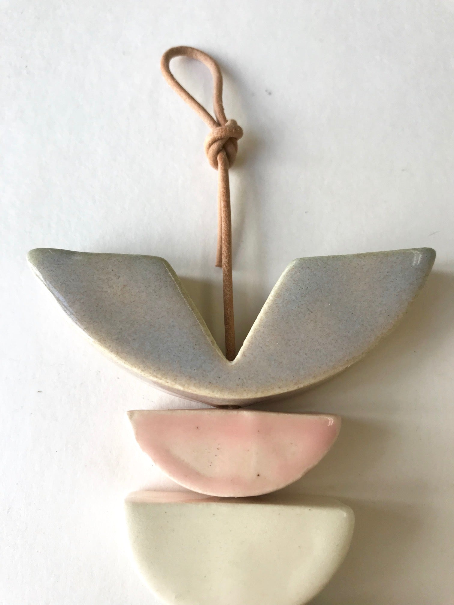 sold - petite one of a kind, desert rising ceramic hanging