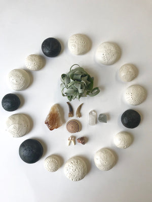 sold - calming stones / one of a kind sculptures for sacred spaces