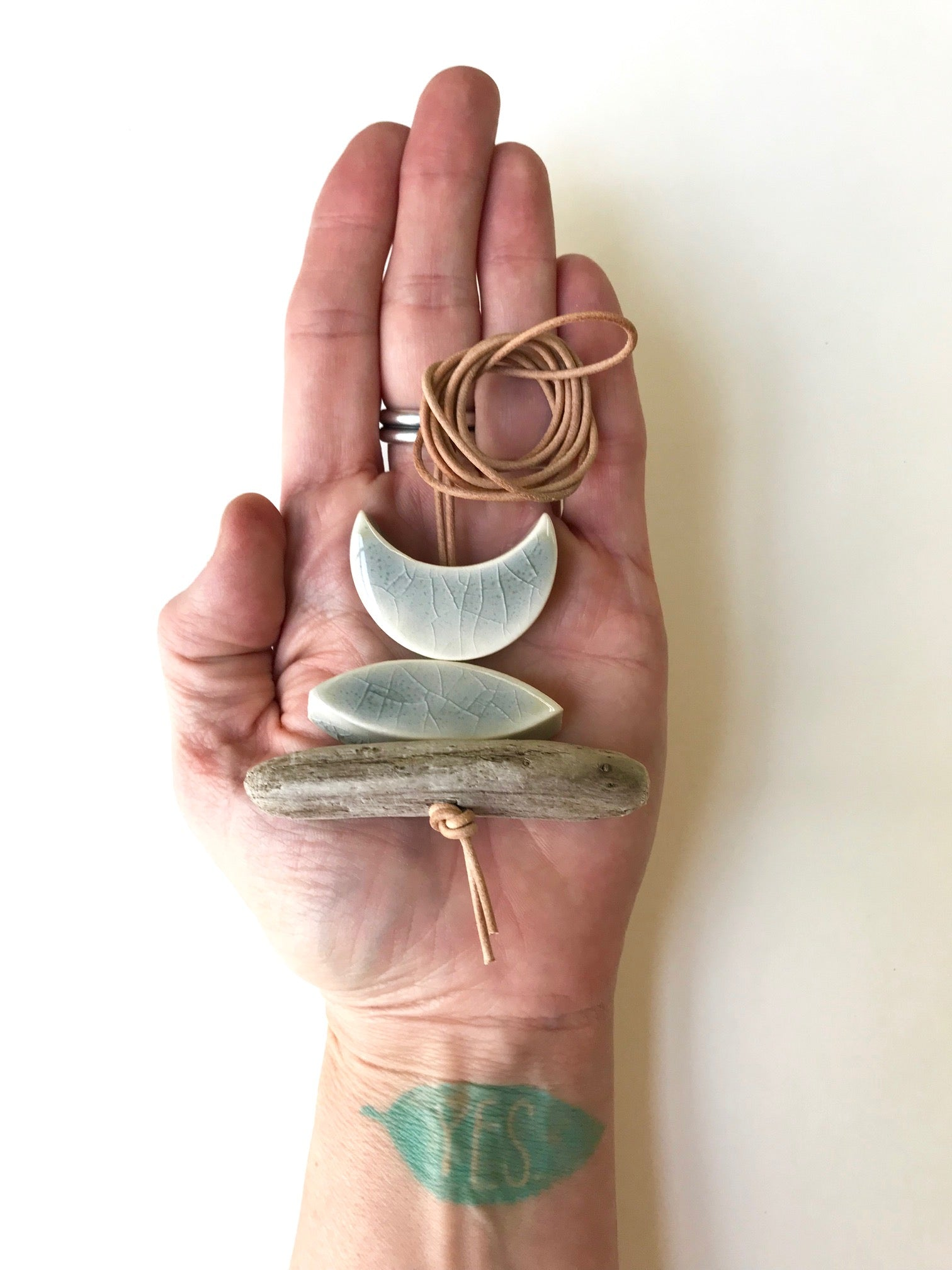 SOLD - 'infinite & ideal' moon meets ocean, one of a kind wearable piece