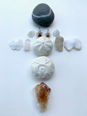 sold - meditation stones / one of a kind sculptures for sacred spaces