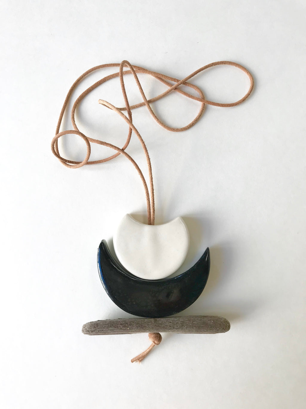 'infinite & ideal' moon meets ocean necklace, one of a kind wearable piece