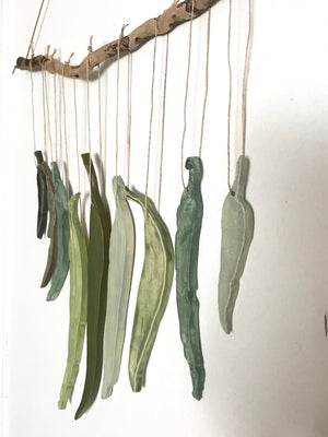sold - green(s) 'clarity' eucalyptus hanging