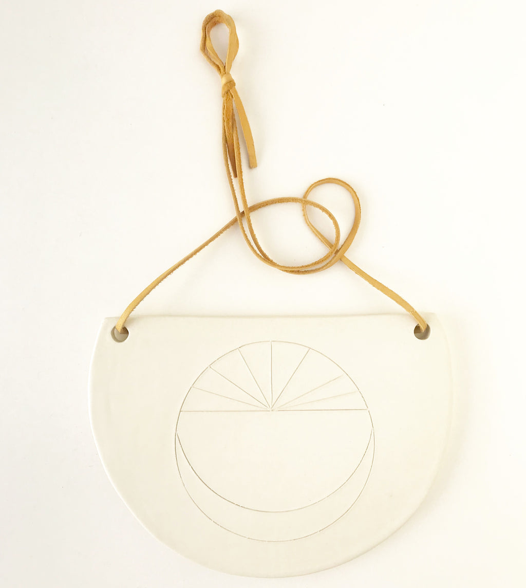 moon compass at dawn wall hanging plaque