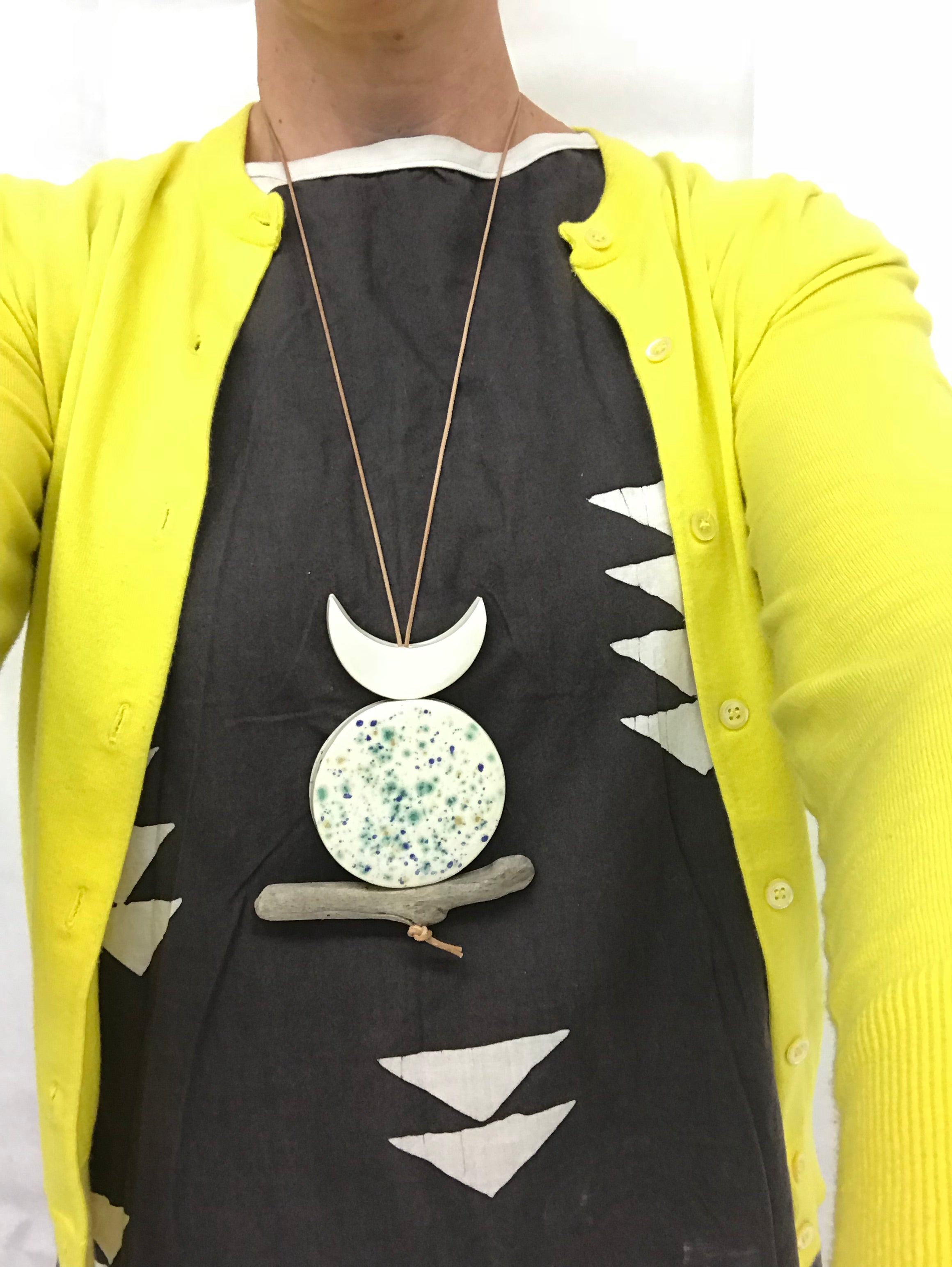 sold - 'infinite & ideal' moon meets ocean one of a kind wearable piece