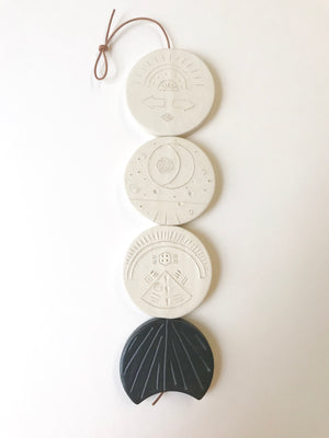 one of a kind, 'darkness shall be the light' meditation wall hanging