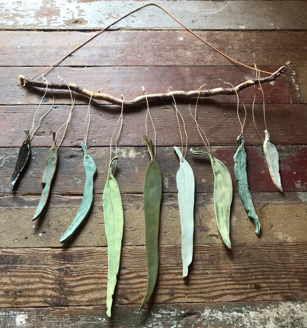 green(s) 'clarity' eucalyptus wall hanging