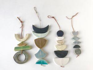 sold - desert rising ceramic hanging