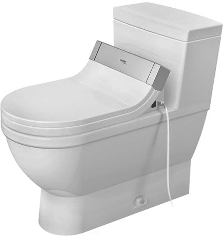 Duravit 2120010001 Starck 3 One-Piece Toilet White W.Mech. , Siphon Jet , Elongated , HET/GB