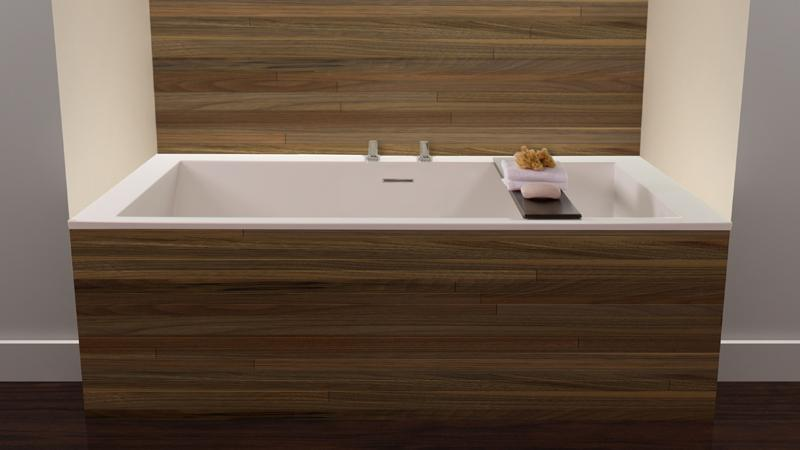Wetstyle Cube Collection BC09 Drop In Soaker Tub 60\