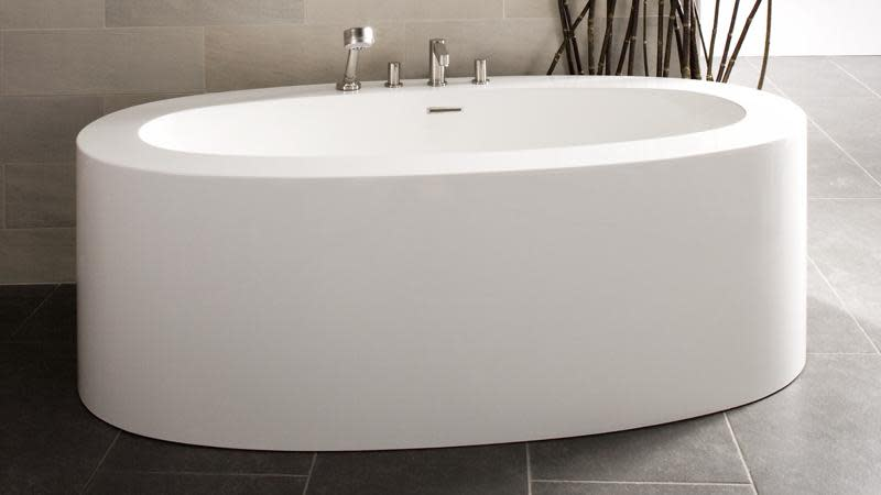 Wetstyle Ove Collection BOV02 Freestanding Soaker Tub 72\