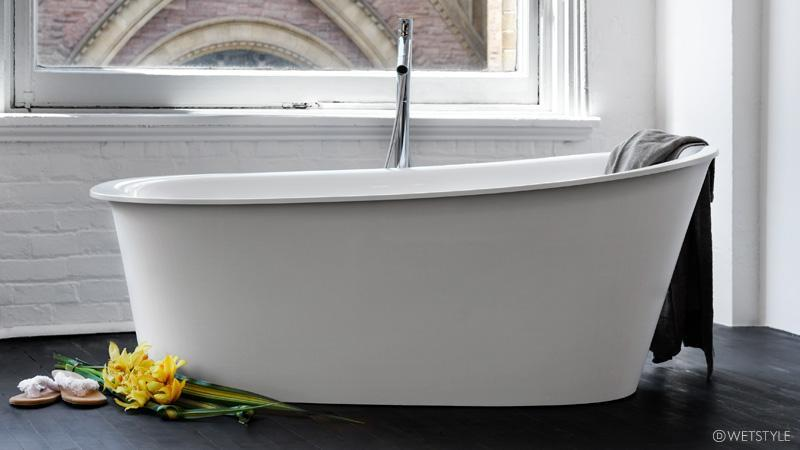 Wetstyle Tulip Collection BTP01 Freestanding Soaker Tub 64-13/16\