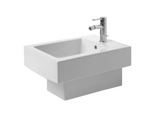 Duravit 22391508001 Vero Bidet wall-mounted 54 cm black with of , with th , 1 th , WonderGlis Wondergliss