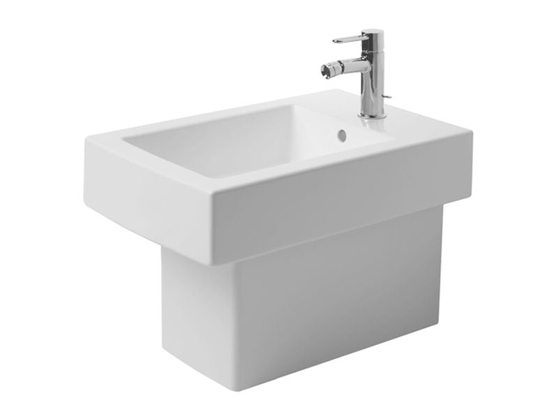 Duravit 22401000301 Vero Bidet Floor standing 57 cm White , With Of , With Tp , 3 Th , WG Wondergliss
