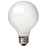 G25 Globe LED Filament Light Bulb, Frosted White Glass, 2W, 40 Watt Equal, 2700K Soft White, Dimmable