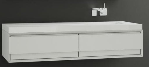 "Wetstylem M Collection M6010-WM Wall Hung Bathroom Vanity 60"" W x 10"" H"