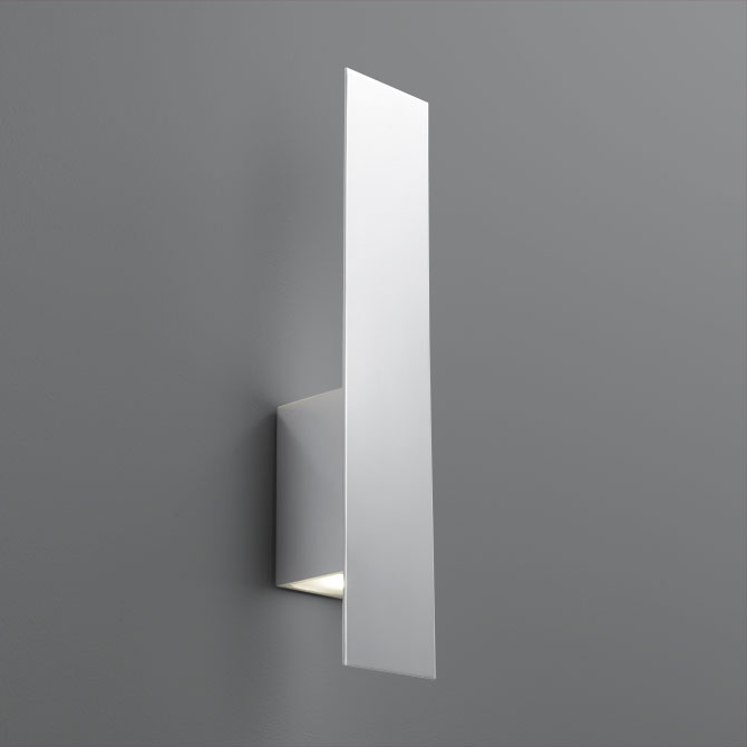 "Oxygen Lighting 3-504-14 Polished Chrome Reflex 2 Light 20"" Tall ADA Compliant Wall Sconce with Glass Lens"