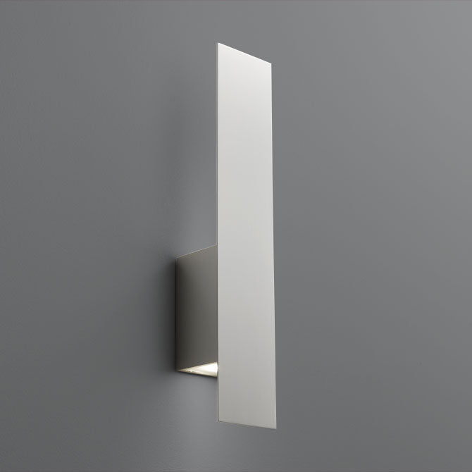 "Oxygen Lighting 3-504-24 Satin Nickel Reflex 2 Light 20"" Tall ADA Compliant Wall Sconce with Glass Lens"
