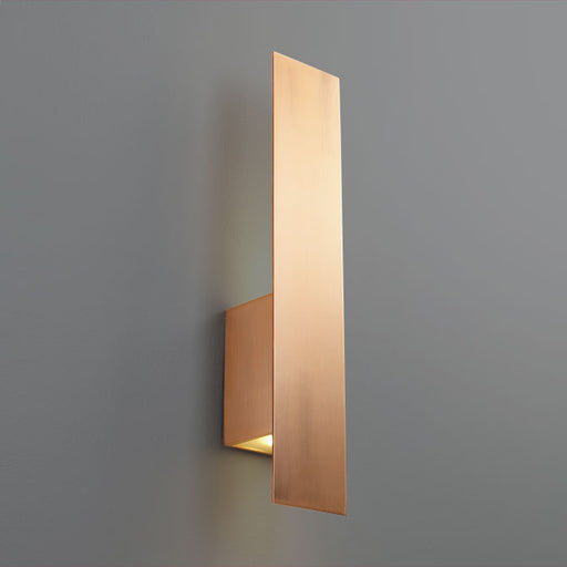 "Oxygen Lighting 3-504-25 Satin Copper Reflex 2 Light 20"" Tall ADA Compliant Wall Sconce with Glass Lens"