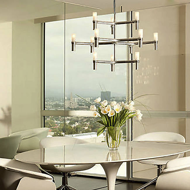 Crown R323601 Nemo Minor Chandelier, Polished Aluminum