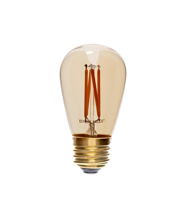 S14 LED Filament Light Bulb for String Lights, Signage 2W, 40 Watt Equal, 2200K, Dimmable