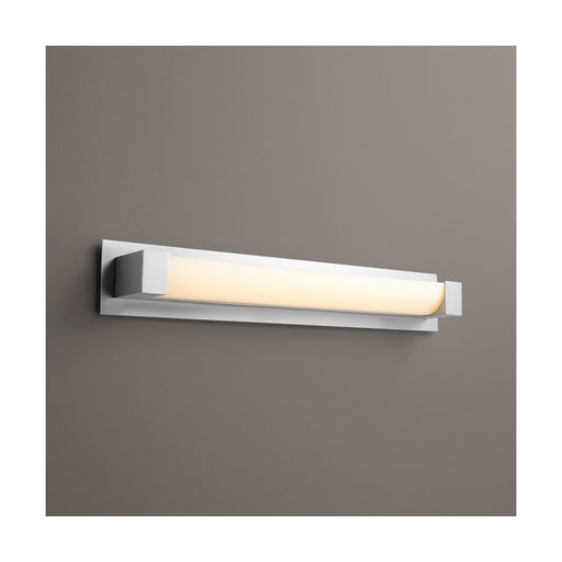 "Oxygen Lighting 37-547-24-BP224 Satin Nickel Single Light 29"" Wide Integrated LED Bath Bar - ADA Compliant"