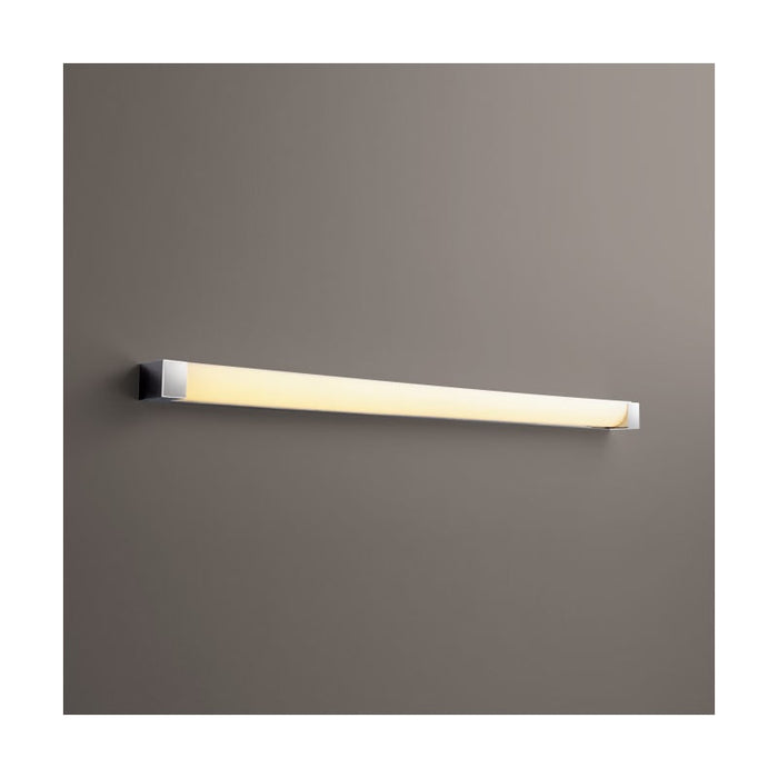 "Oxygen Lighting 37-549-20 Polished Nickel Single Light 48-1/2"" Wide Integrated LED Bath Bar - ADA Compliant"