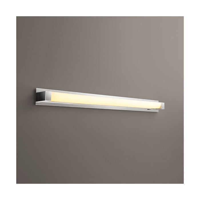 "Oxygen Lighting 37-549-20-BP420 Polished Nickel Single Light 52-3/4"" Wide Integrated LED Bath Bar - ADA Compliant"