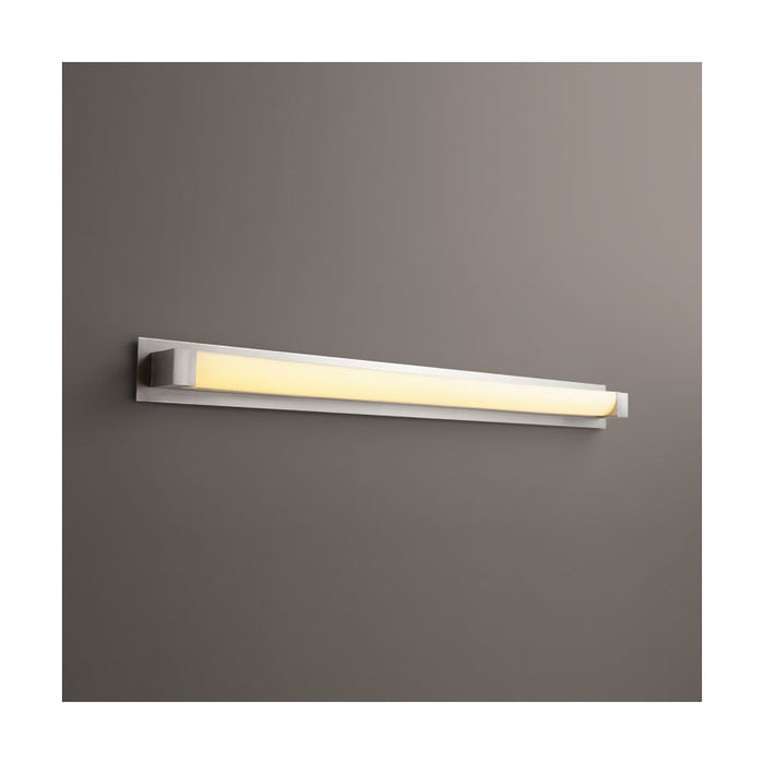 "Oxygen Lighting 37-549-24-BP424 Satin Nickel Single Light 52-3/4"" Wide Integrated LED Bath Bar - ADA Compliant"