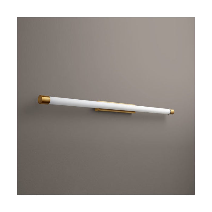 "Oxygen Lighting 37-559-22 Oiled Bronze Single Light 47-3/4"" Wide Integrated LED Bath Bar - ADA Compliant"