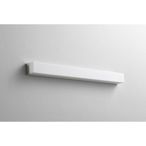 "Oxygen Lighting 37-571-20 Polished Nickel Single Light 26-3/4"" Wide Integrated LED Bath Bar - ADA Compliant"
