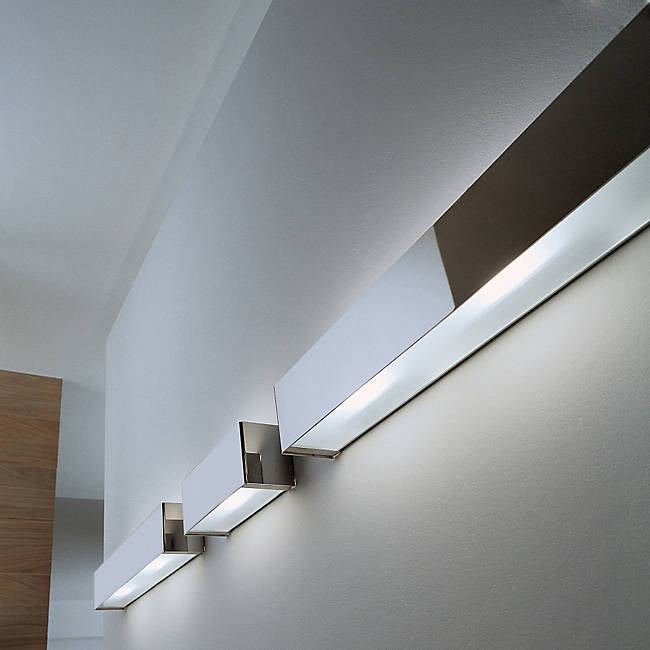 Box R213637 OTY Lighting Wall Sconce, Incandescent Brushed Steel 24.63 inch