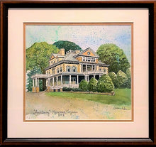 """Annaburg Manor"" Manassas, Virginia c. 1892 - Original Watercolor Painting"