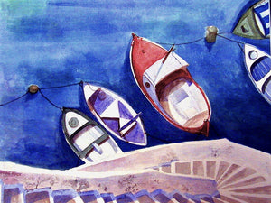 """Corsica Boats"" Giclee Prints ~ One Size"