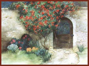 """Garden Gate"" Original Watercolor ~ From A Private Collection"