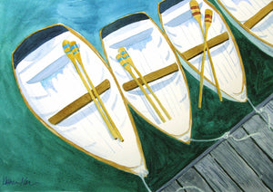 """Ready to Row"" Original Watercolor Painting"