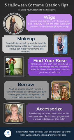 Tips for costume creation including tinkerbell costume