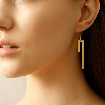 Handmade Jewelry from Greece: Linear Earrings