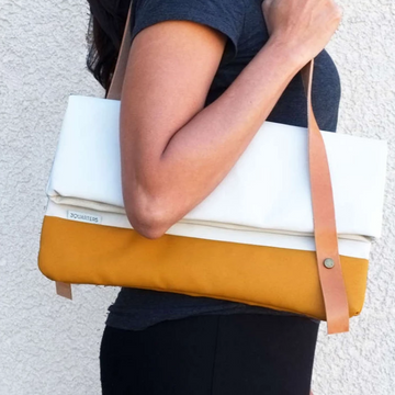 Sophia L Upcycled modern clutch and tote bag