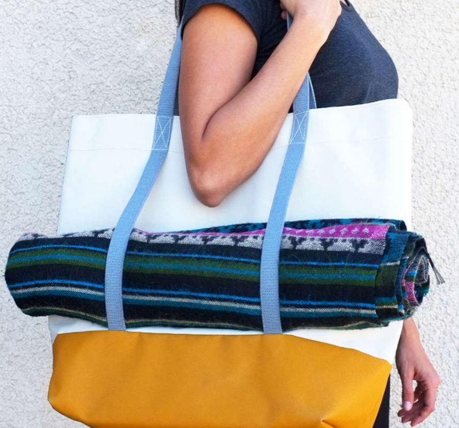 The Sunny Upcycled Large tote bag