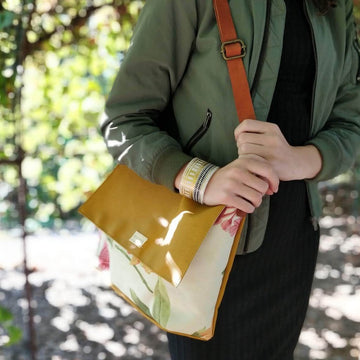 The Zelda Upcycled Messenger Bag