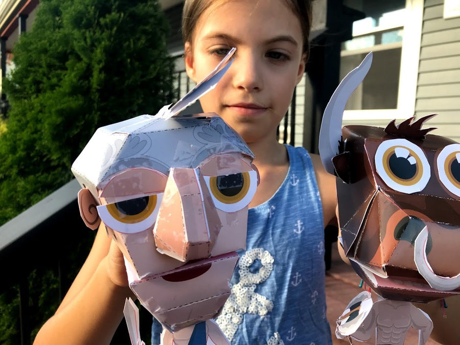 Greektures: Paper Hand Puppets