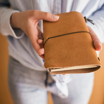 Handmade Leather Travel Journal with Free Bullet Journal Insert