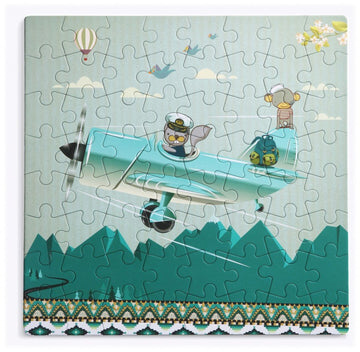 64 piece puzzle made of recycled paper and non toxic dyes. Ages 3 and above