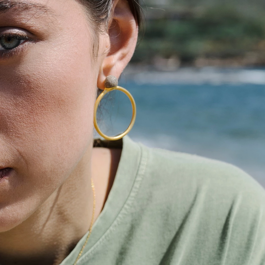 Handmade Jewelry from Greece - Unique Hoop Earrings