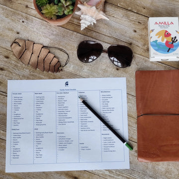 Family Summer Travel Packing Checklist