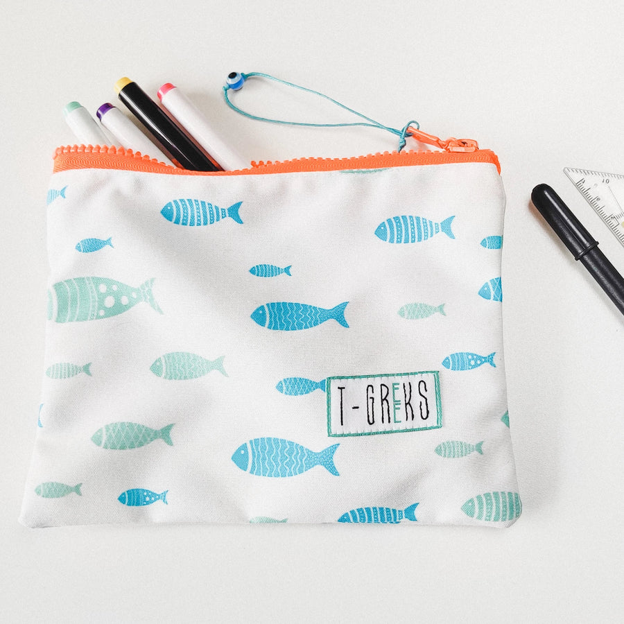 Fishies (Psari) Waterproof Pouch Bag