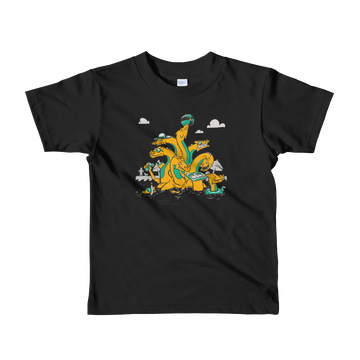 Hydra 9 Headed Dragon Kids Unisex T-Shirt