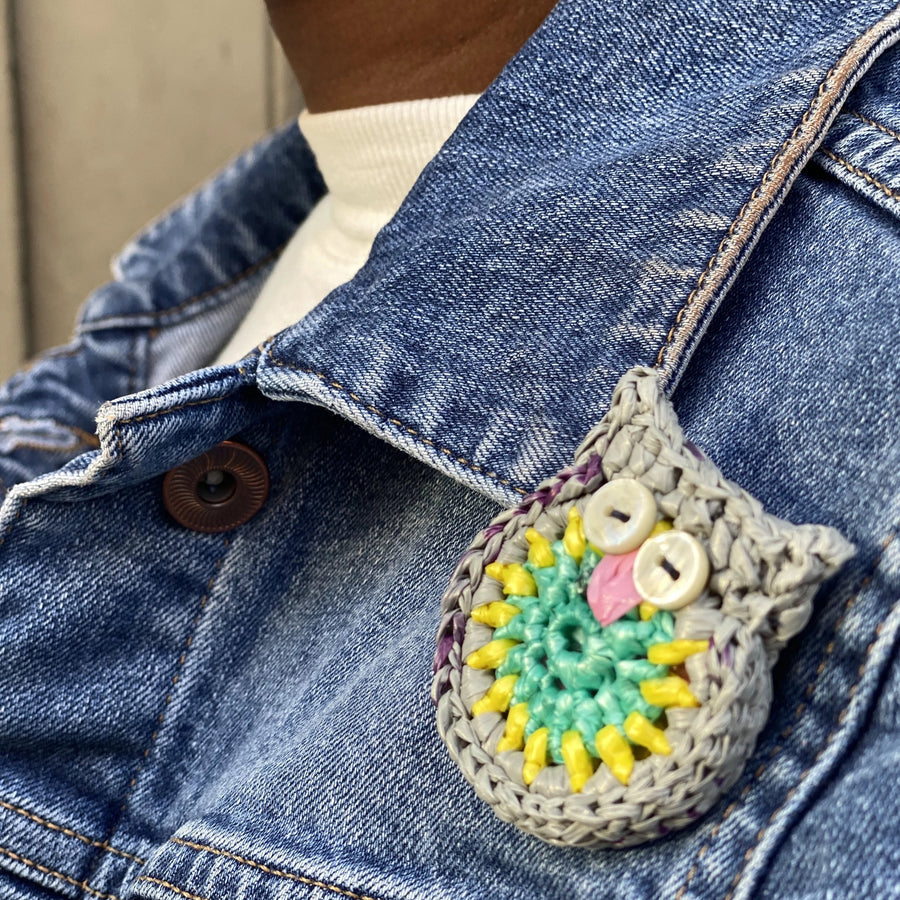 Upcycled Crocheted Brooch Pins