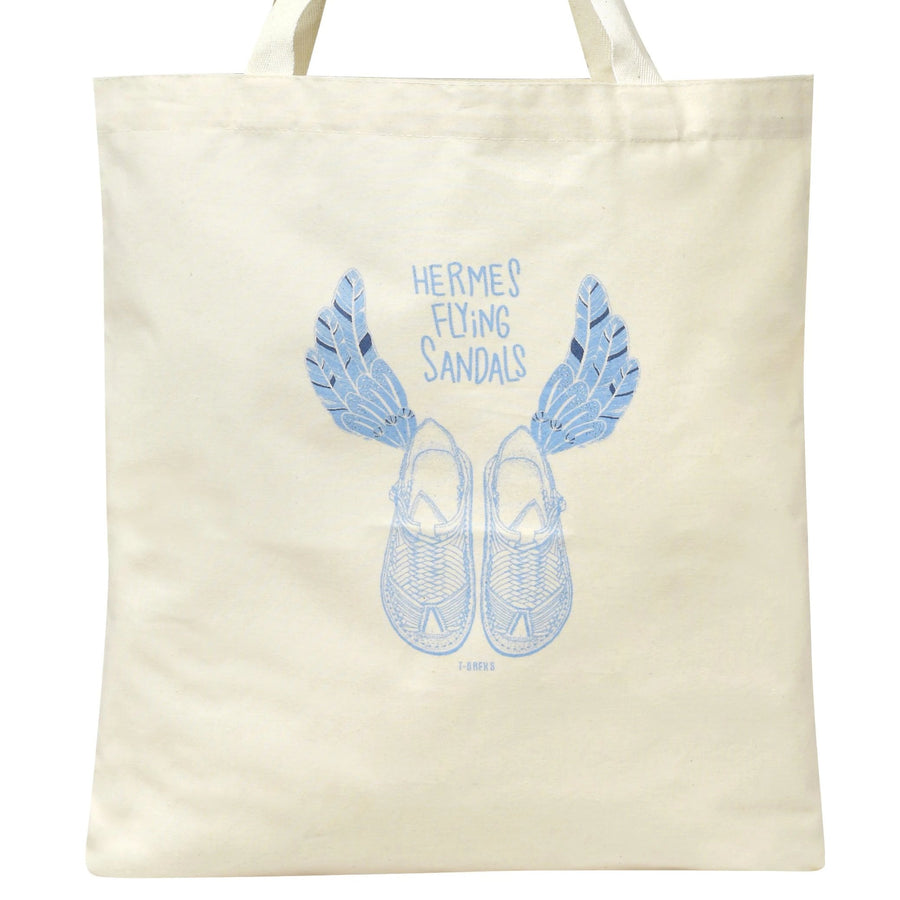 Hermes Sandals Canvas Tote Bag